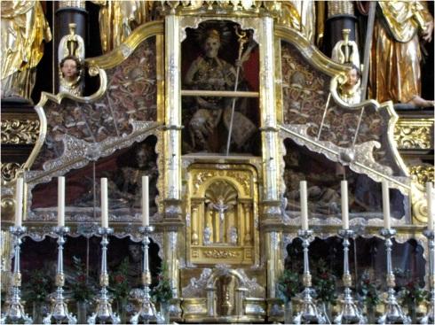 skulls on altar
