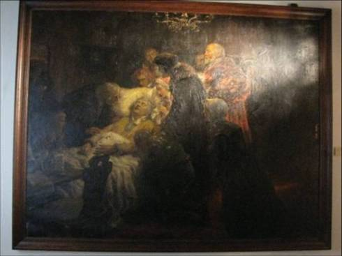 Luther's death painting