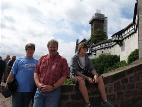 wartburg castle with boys