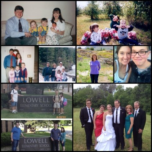 Kaitlyn is the baby in the upper left pic - she's 20 today. She was born and we started the church all in the span of six weeks.
